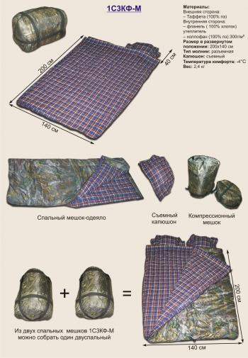 Спальный мешок 1С3КФ-М